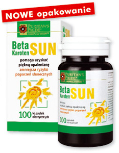 Beta Karoten Sun chroni skórę przy opalaniu